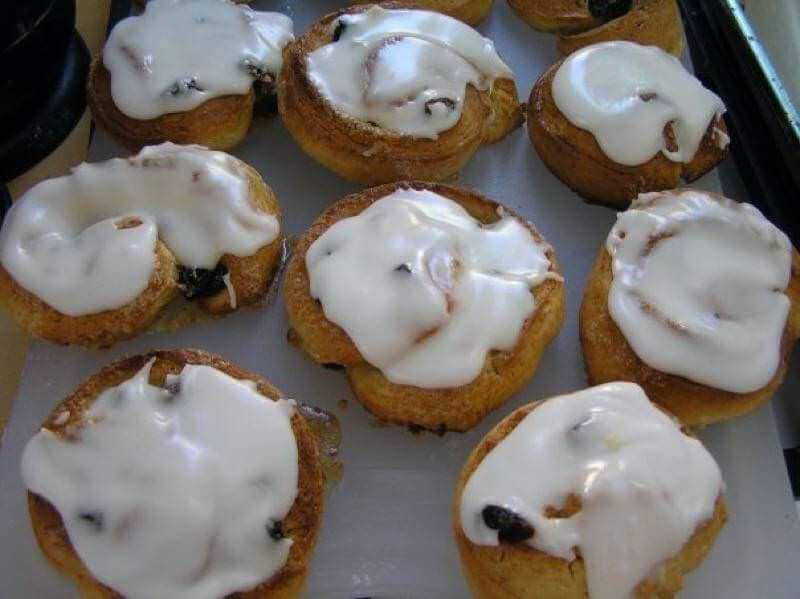Iced Chelsea buns