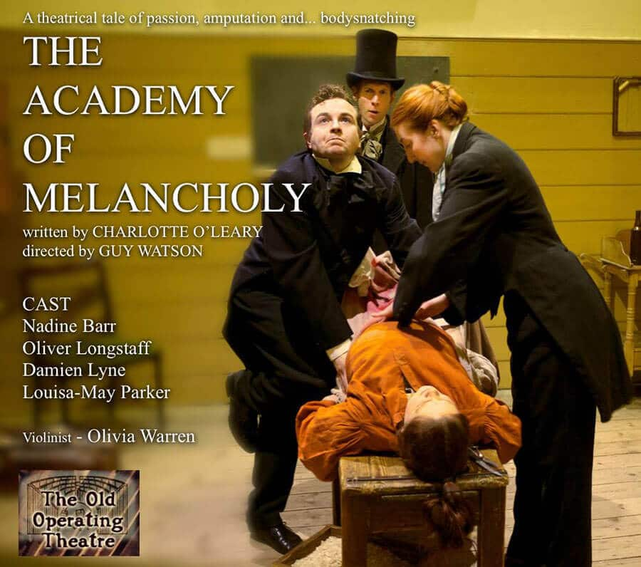 Poster for The Academy of Melancholy, by Charlotte O'Leary